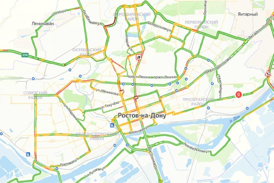 Вечерние пробки в Ростове