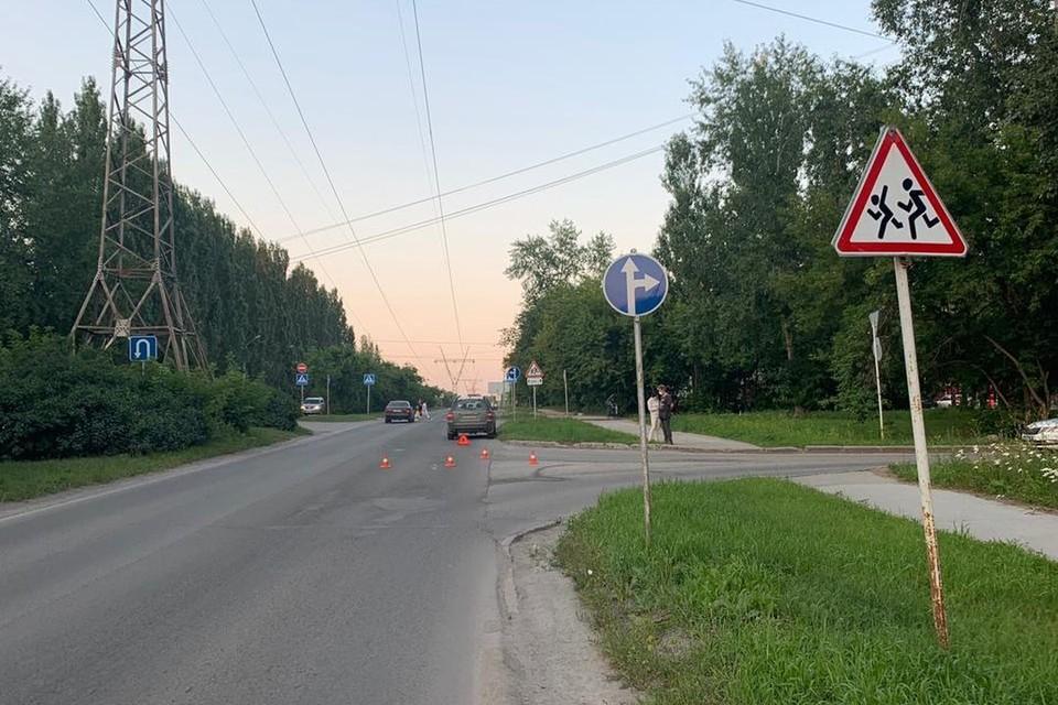 В Советском районе Новосибирска иномарка сбила подростка на самокате. Фото: Госавтоинспекция по Новосибирску