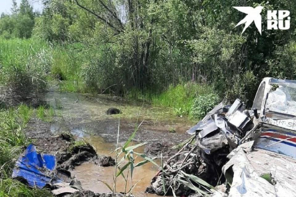 Крушение самолета под Хабаровском: за штурвалом находилась опытная женщина-пилот. Фото: предоставлено очевидцем