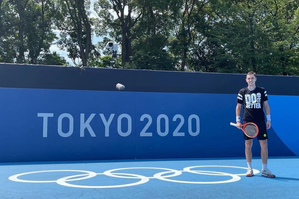 Егор Герасимов вышел во второй круг олимпийского тенниса. Фото: gerasimovegor