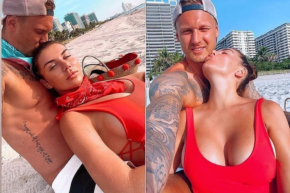 Анна Седокова и Янис Тимма поженились в прошлом году. Фото: Инстаграм.