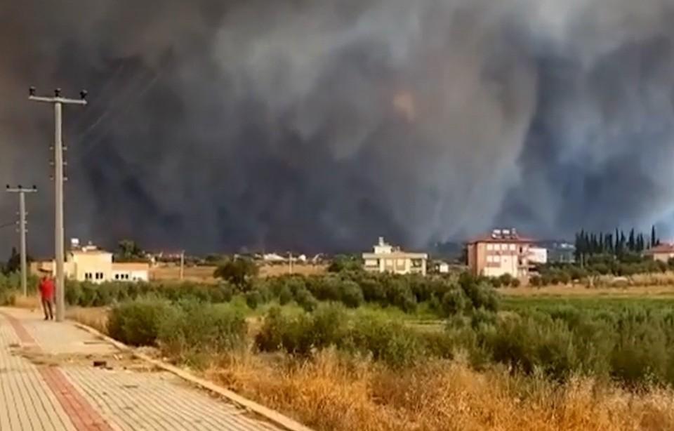 При крупном пожаре в Анталье пострадали 53 человека Фото: кадр из видео