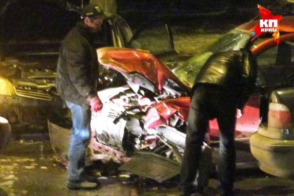 Авария произошла уже вечером.