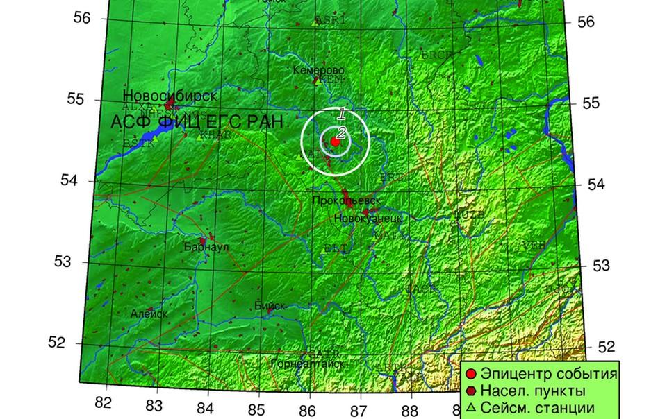 В Кузбассе вновь случилось землетрясение. Фото: Алтае-Саянский филиал Единой Геофизической службы РАН.
