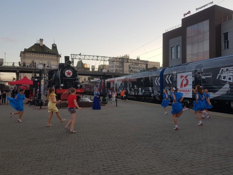 Поезд Победы во Владивостоке. Фото: Елена Дорофеева