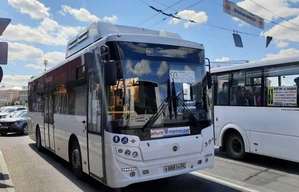 В Крыму начали ходить два новых автобуса по маршруту «Неаполь Скифский – площадь Амет-Хана Султана». Фото: пресс-служба администрации Симферополя