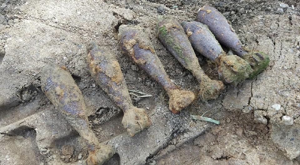11 предметов времён Великой Отечественной войны нашли под Смоленском. Фото: СОГБУ «Пожарно-спасательный центр».