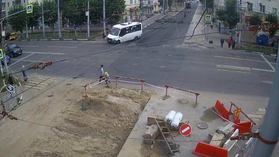 Перекресток улиц Новой и Циолковского утром 10 сентября. Источник: ryazan.camera
