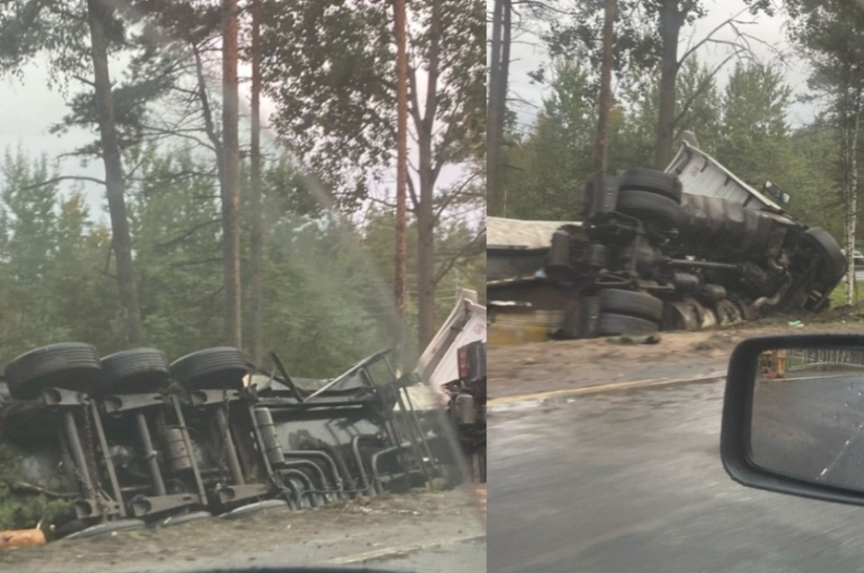 Большая пробка из-за аварии на Мурманском шоссе. Фото: группа «ДТП и ЧП в Санкт-Петербурге» Вконтакте