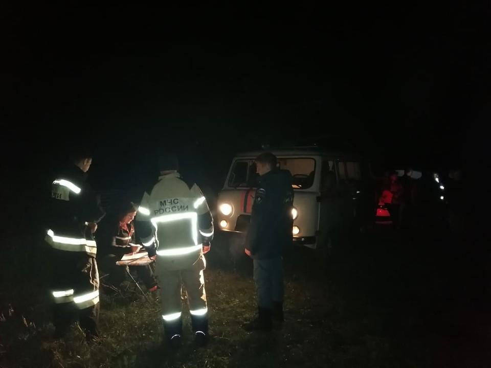 Под Мценском в ночь с 11 на 12 сентября искали 77-летнего грибника. Фото: ГУ МЧС России по Орловской области