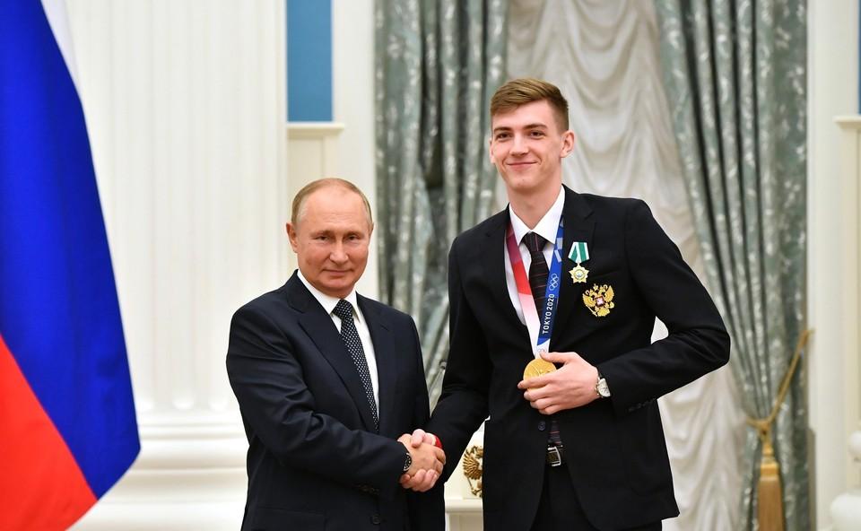 Владимир Путин вручил награды победителям Олимпийских игр в Токио-2020 Фото: kremlin.ru