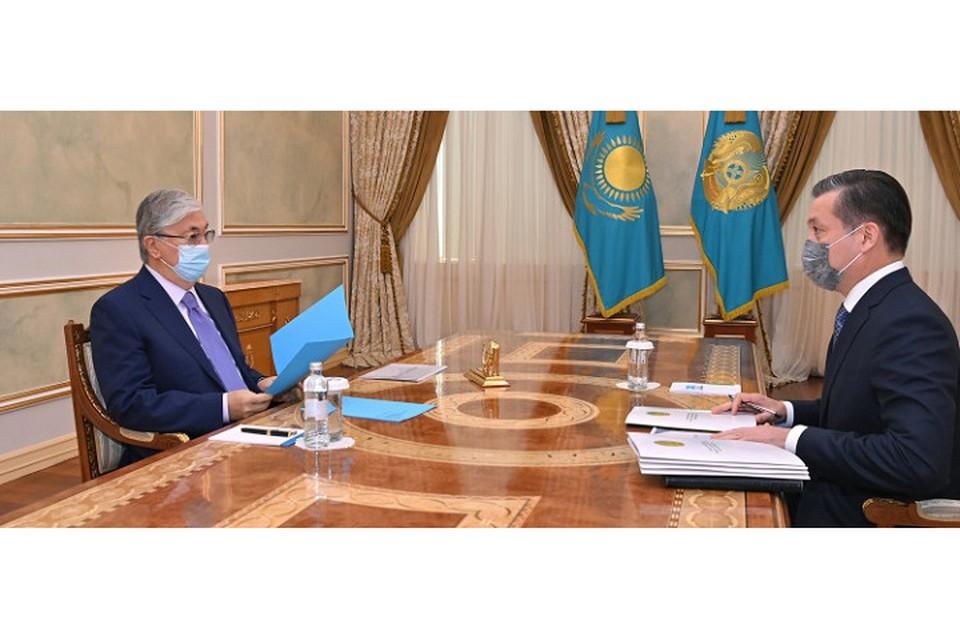Сериккали Брекешев сообщил главе государства о работе по созданию Национальной геологической службы и разработке информационной системы «Национальный банк данных минеральных ресурсов».