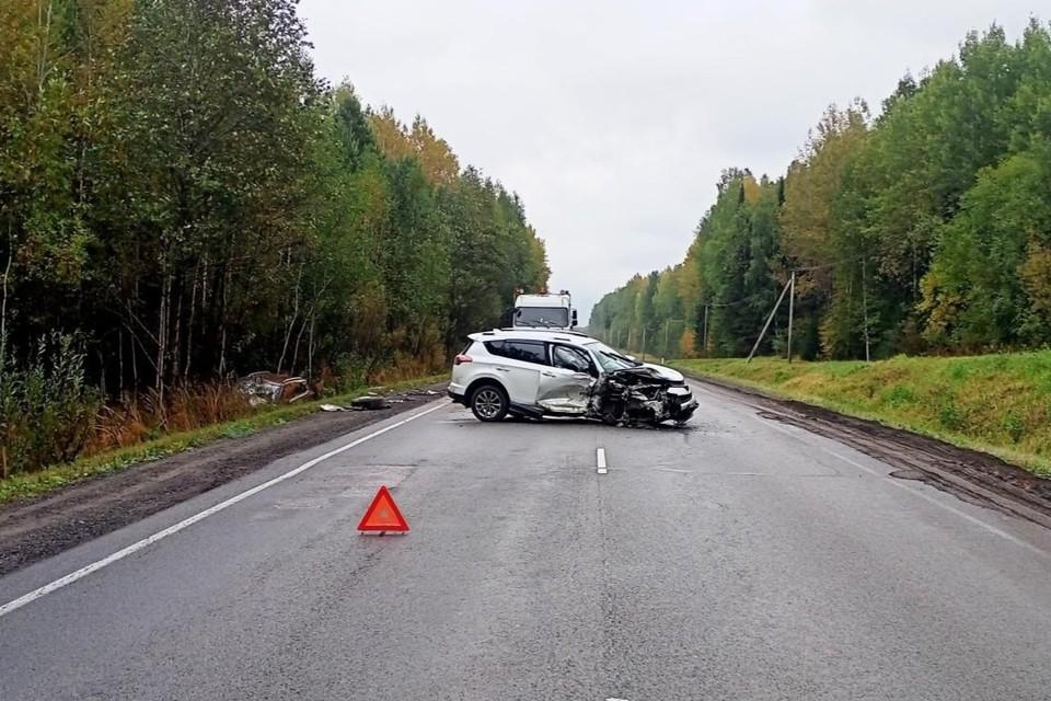 Авария произошла 14 сентября на 708 км федеральной автодороги «Кострома-Шарья-Киров-Пермь». Фото: vk.com/gibdd43