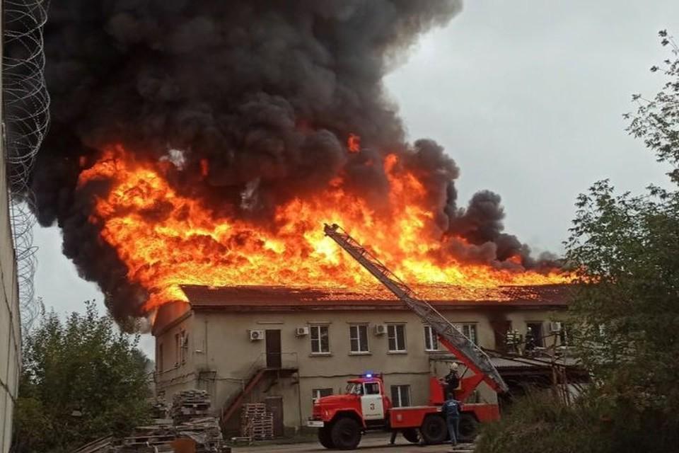 Людей успели эвакуировать. Фото: Сергей Лузин