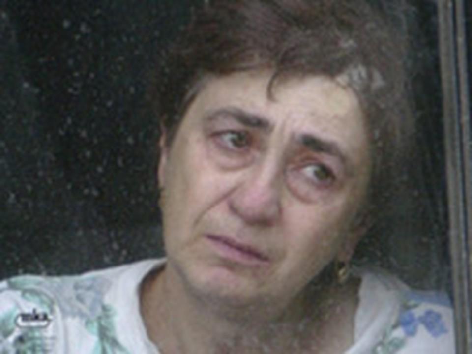 Беженка из Южной Осетии.