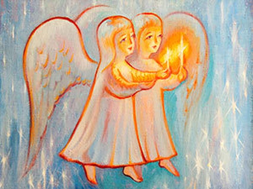 Днем воздушно, рисунок ангелы мира