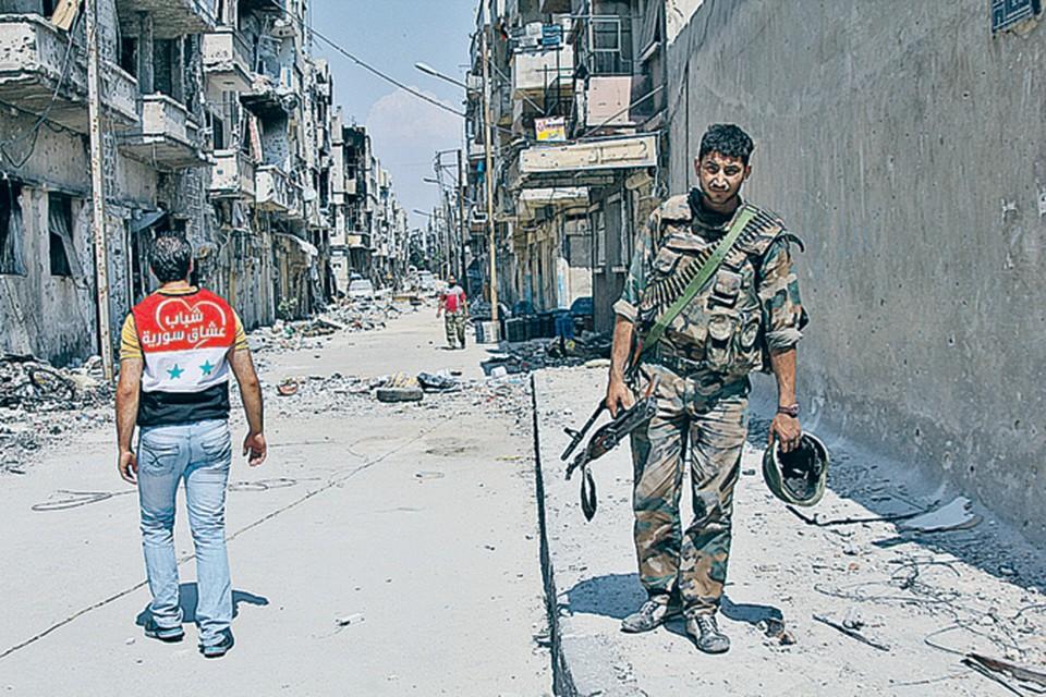 Бои между правительственной армией и мятежниками уже вспыхивают в Дамаске.