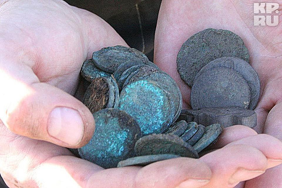 Под екатеринбургом нашли клад из старинных монет.
