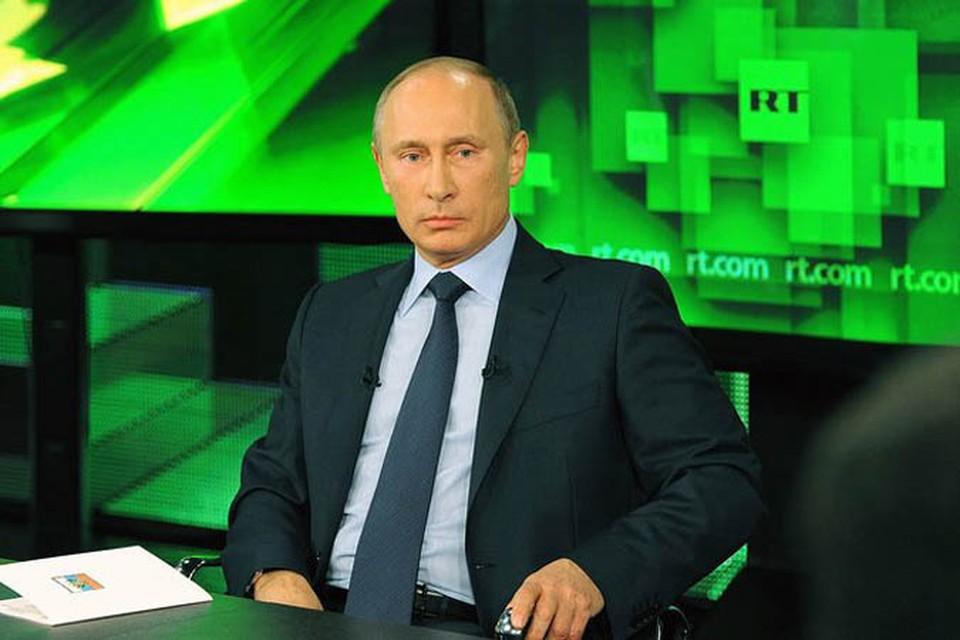 Во вторник Владимир Путин посетил новый телевизионный комплекс телеканала «Russia Today» и после осмотра здания пообщался с коллективом журналистов