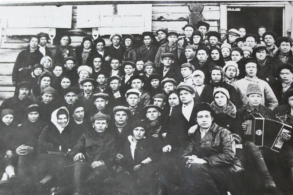 Участники комсомольской конференции Таштыпского района 1931 год