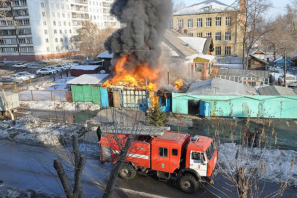 фото пожаров в новосибирске