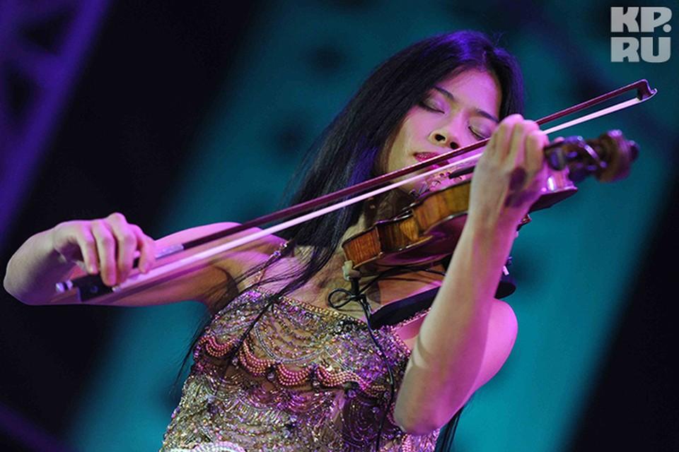 Известная на весь мир скрипачка Ванесса Мэй