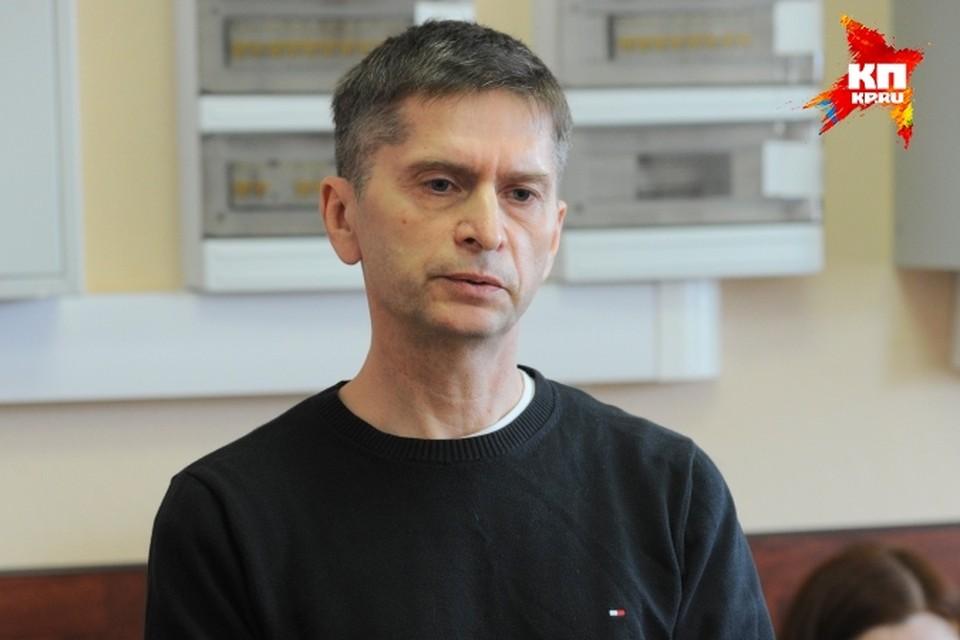 Андрей Вотяков на скамье подсудимых.