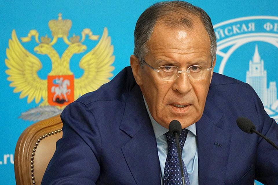 Сергей Лавров, министр иностранных дел РФ.