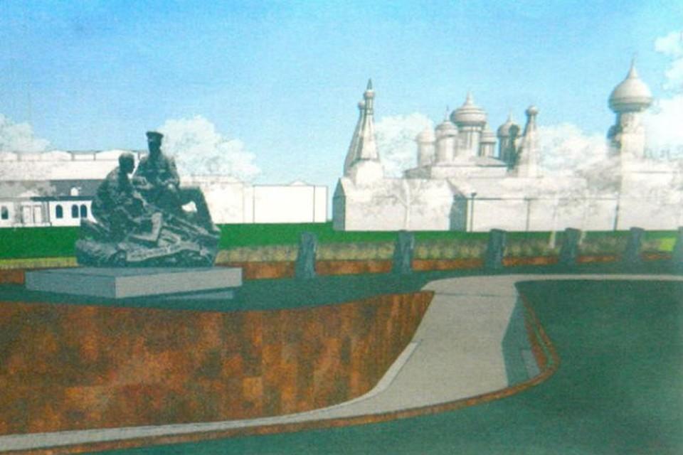 Проект памятника воинам-финансистам. Фото: предоставлено Ольгой Мазановой.