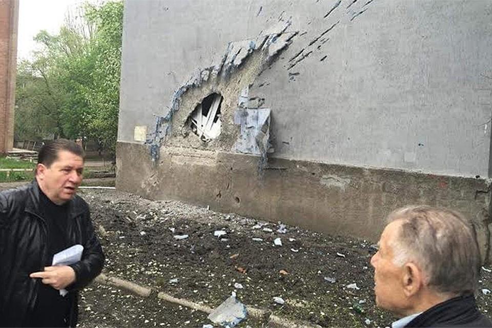 Артобстрелу в Донецке подверглись около 20 домов и школа. ФОТО: Фейсбук ИВАНА ПРИХОДЬКО