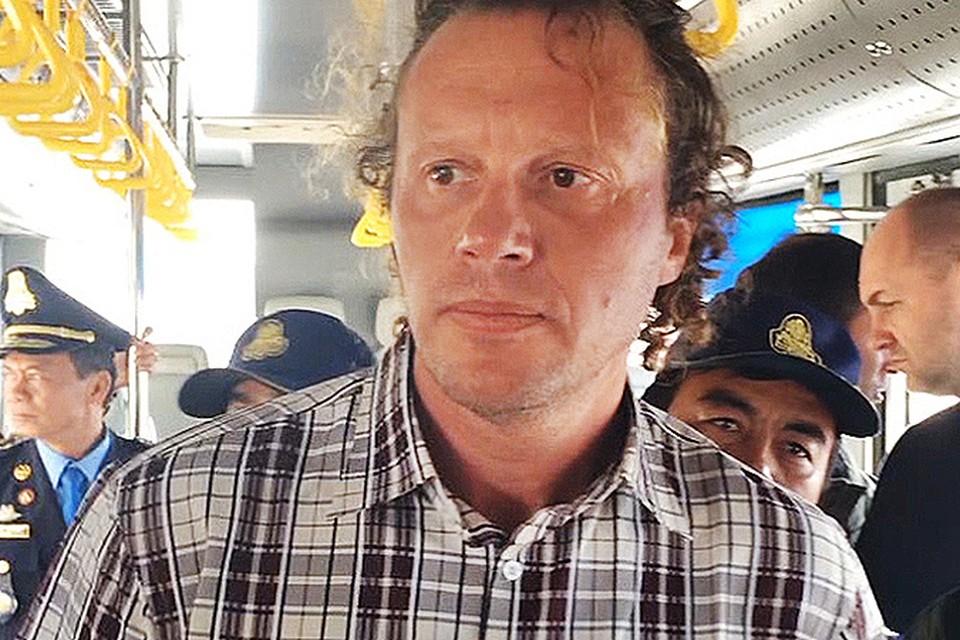 18 мая 2015 года, Сергей Полонский во время экстрадиции в Россию.