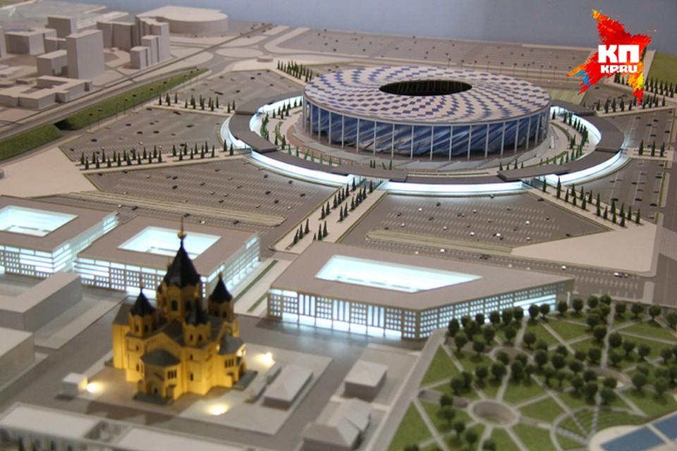 Стадион на Стрелке переименовали в «Нижний Новгород».
