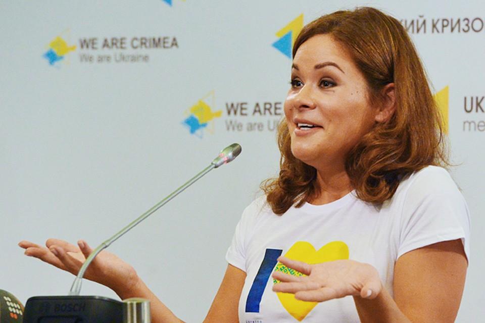 Мария Гайдар в Киеве дала пресс-конференцию, где очень ярко презентовала себя