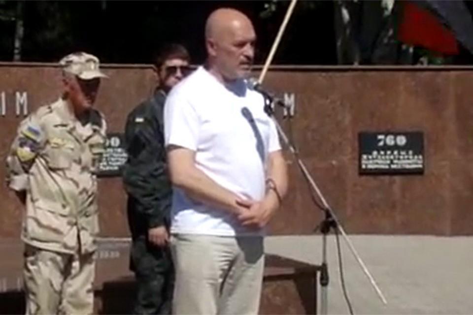Губернатор Луганской области Георгий Тука на митинге в Лисичанске. Фото: Youtube