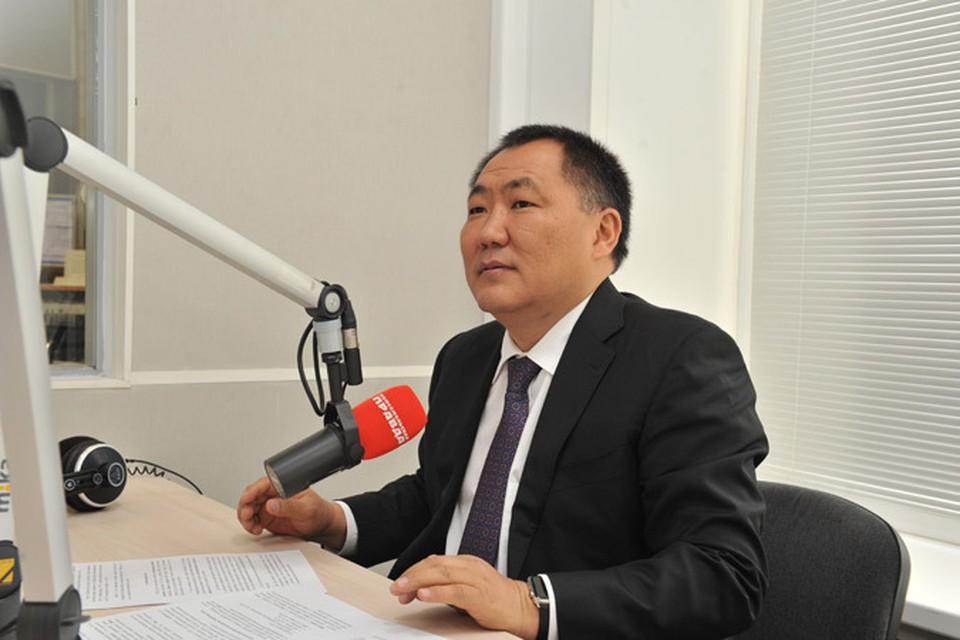 Глава  Республики Тыва рассказал радиослушателям много интересного о жизни своего региона.