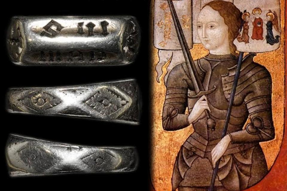 Считается, что кольцо подарили Жанне родители незадолго до ее сожжения на костре в 1431 году.