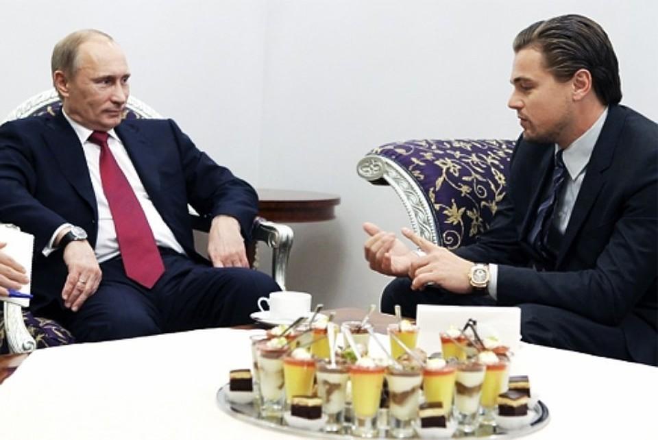 Путин заметил, что Ди Каприо «прорвался» в Санкт-Петербург, «как через линию фронта»