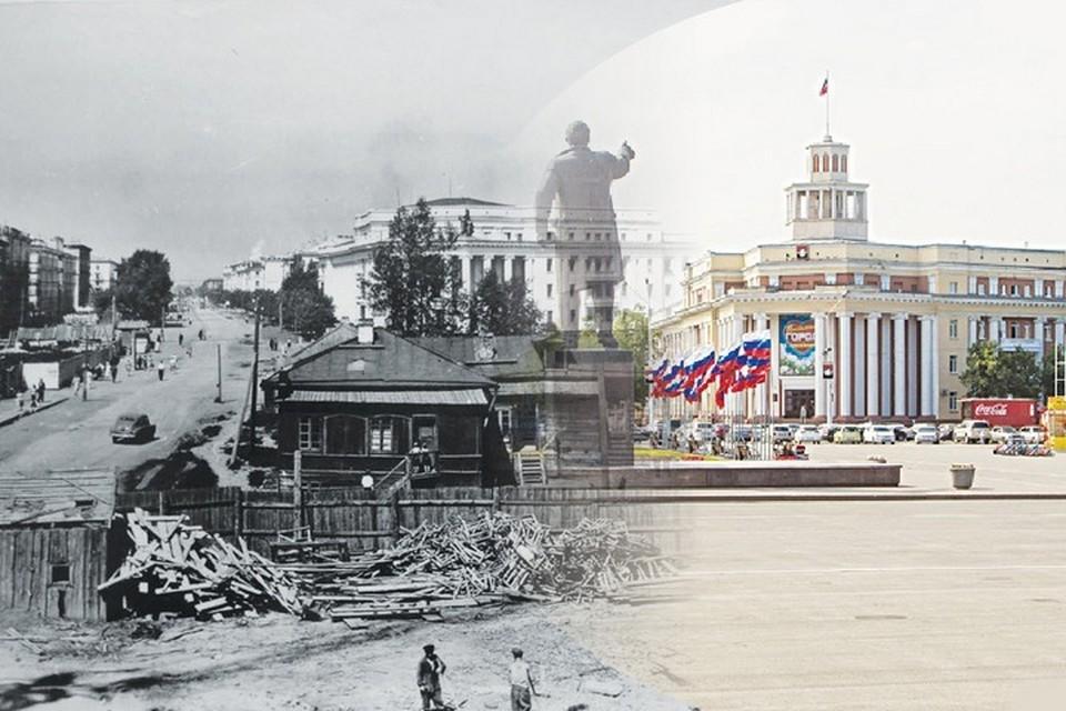 Площадь Советов в 1960-х и сейчас