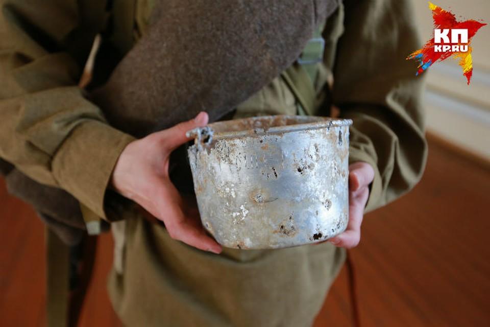 Одна из последних находок поисковиков – солдатский котелок