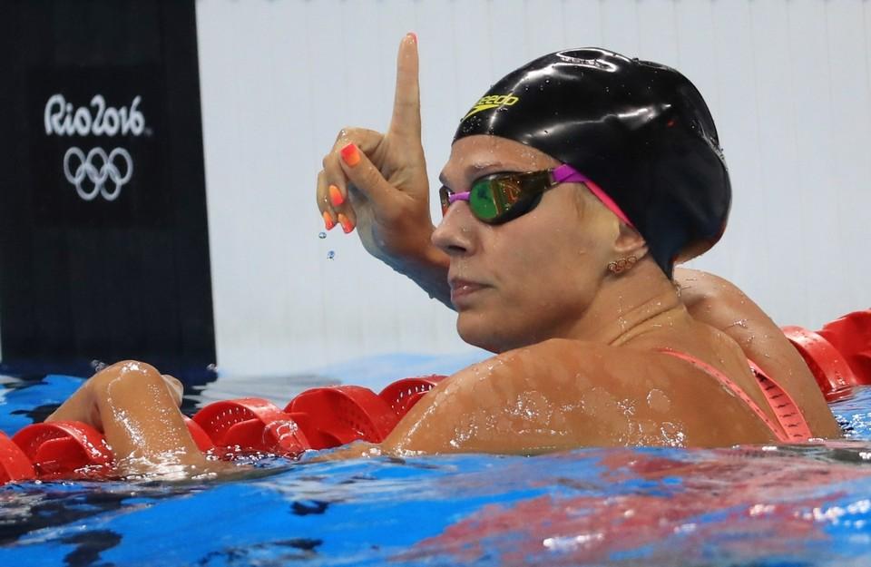 Юлия Ефимова - главная надежда сборной России на первую медаль в плавании.