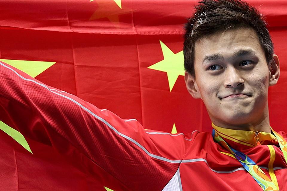 Китайский пловец Сунь Ян.