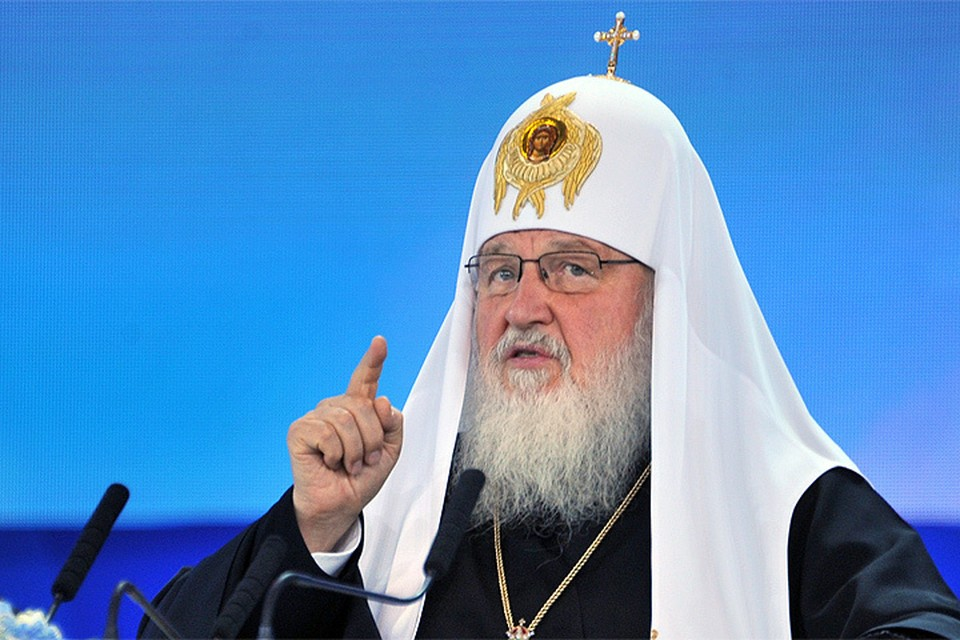 Предстоятель РПЦ Патриарх Кирилл.