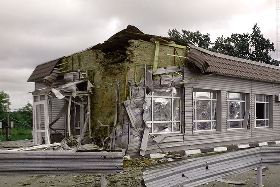 Последствия обстрела российской территории в июне-августе 2014 года. ФОТО СК РФ