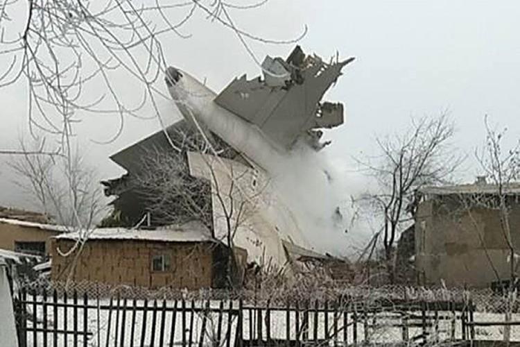 не долетел до взлетной полосы около 500 метров и упал при посадке в селе Дача-Суу
