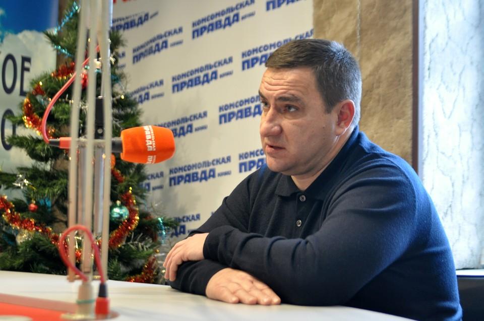 """Андрей Ростенко на радио """"Комсомольская правда""""."""