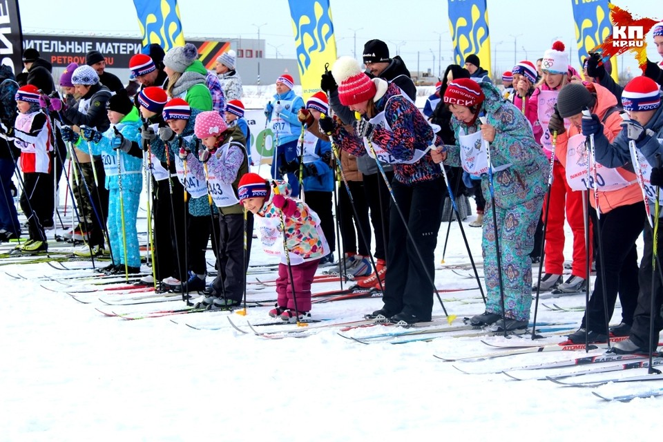 """В тверском этапе """"Лыжни России"""" среди тысяч людей были, как совсем маленькие, так и совсем взрослые"""