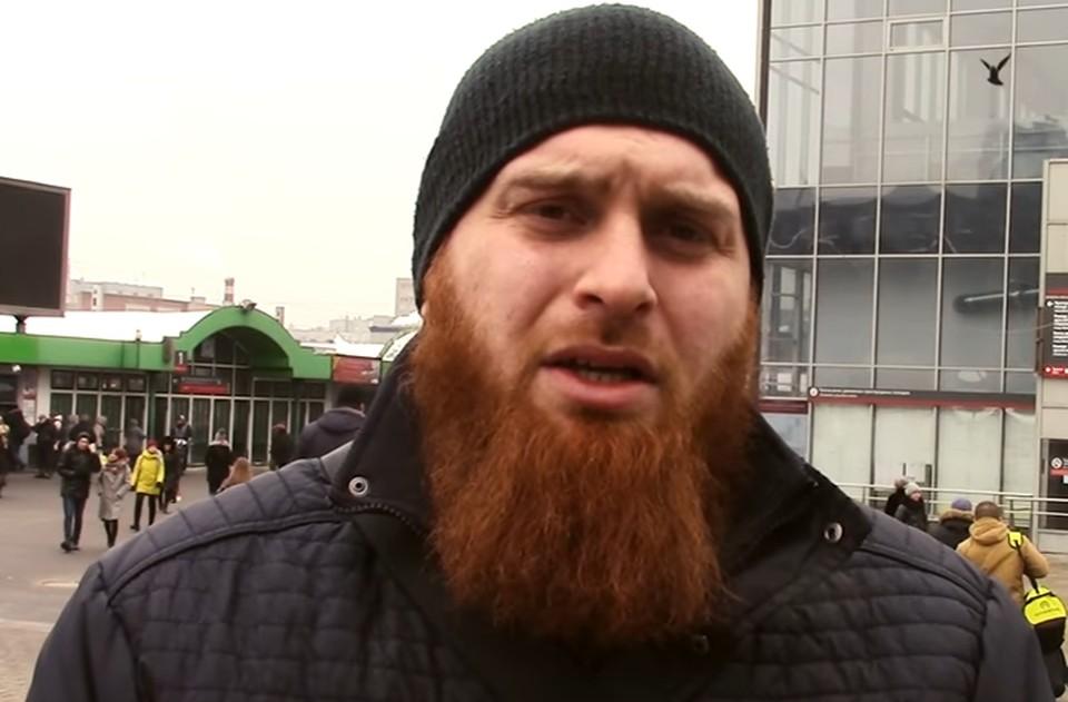 Активист Исламского патруля Ислам Исмаилов.