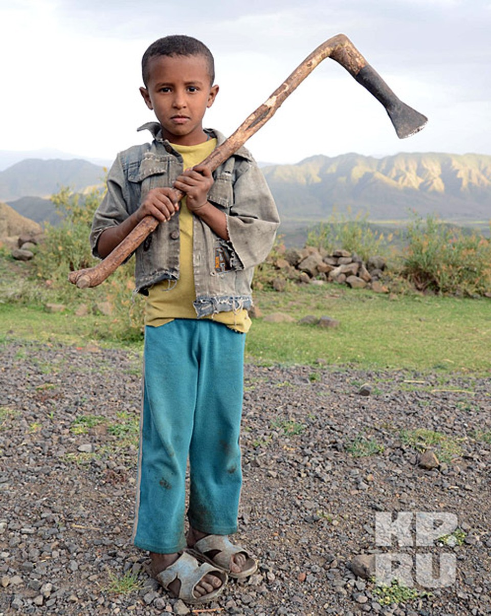 Амхарец с традиционным топором типа кельт