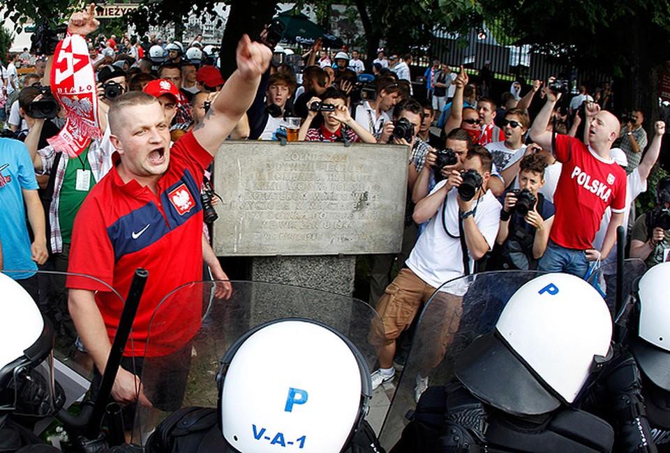 Столкновения российских и польских фанатов в Варшаве