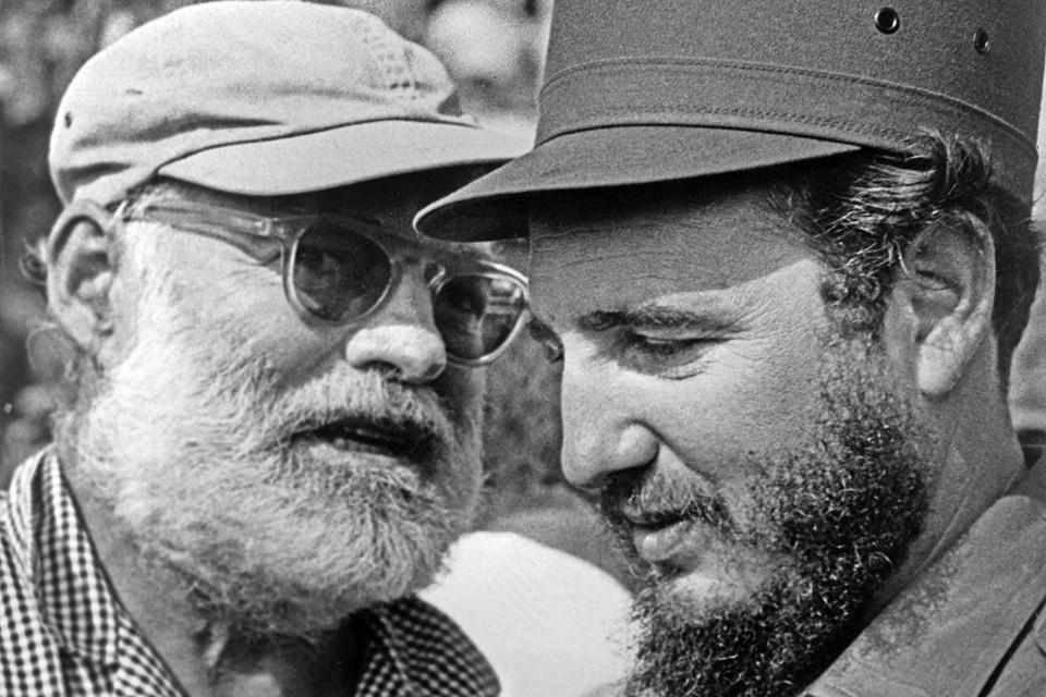 Фидель Кастро и писатель Эрнест Хемингуэй